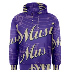 Music Flyer Purple Note Blue Tone Men s Pullover Hoodie