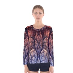 Abstract Fractal Women s Long Sleeve Tee
