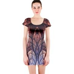 Abstract Fractal Short Sleeve Bodycon Dress