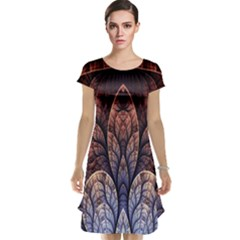 Abstract Fractal Cap Sleeve Nightdress