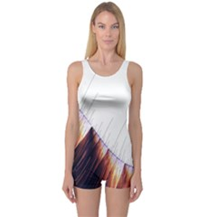Abstract Lines One Piece Boyleg Swimsuit