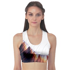 Abstract Lines Sports Bra