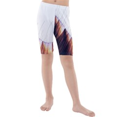 Abstract Lines Kids  Mid Length Swim Shorts