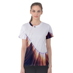 Abstract Lines Women s Cotton Tee