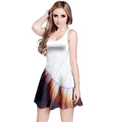 Abstract Lines Reversible Sleeveless Dress