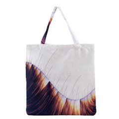 Abstract Lines Grocery Tote Bag