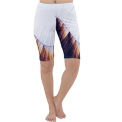 Abstract Lines Cropped Leggings