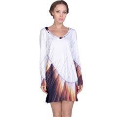 Abstract Lines Long Sleeve Nightdress