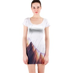 Abstract Lines Short Sleeve Bodycon Dress