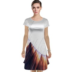 Abstract Lines Cap Sleeve Nightdress