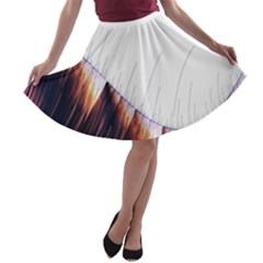 Abstract Lines A Line Skater Skirt