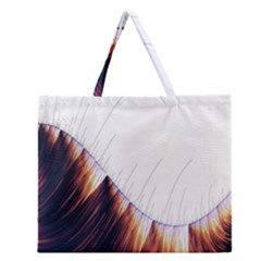 Abstract Lines Zipper Large Tote Bag