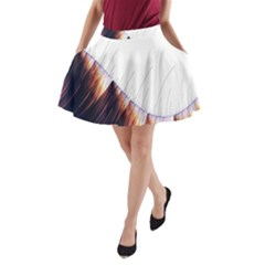 Abstract Lines A Line Pocket Skirt