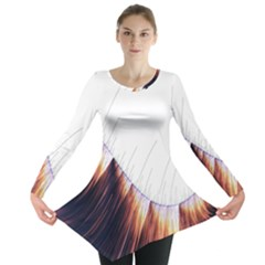 Abstract Lines Long Sleeve Tunic