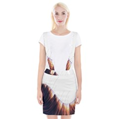 Abstract Lines Suspender Skirt