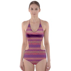 Lines Cut-Out One Piece Swimsuit