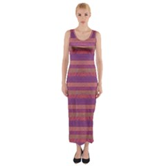 Lines Fitted Maxi Dress