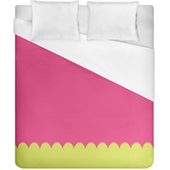 Pink Yellow Scallop Wallpaper Wave Duvet Cover (california King Size)