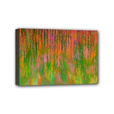 Abstract Trippy Bright Melting Mini Canvas 6  X 4