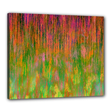 Abstract Trippy Bright Melting Canvas 24  X 20