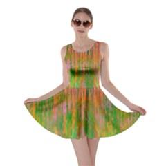 Abstract Trippy Bright Melting Skater Dress