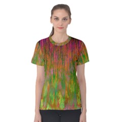 Abstract Trippy Bright Melting Women s Cotton Tee