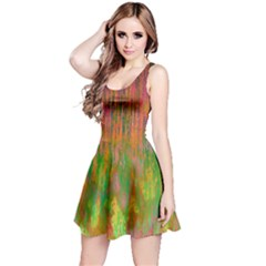 Abstract Trippy Bright Melting Reversible Sleeveless Dress