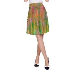 Abstract Trippy Bright Melting A-Line Skirt