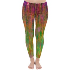 Abstract Trippy Bright Melting Classic Winter Leggings