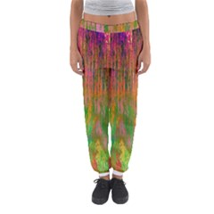 Abstract Trippy Bright Melting Women s Jogger Sweatpants