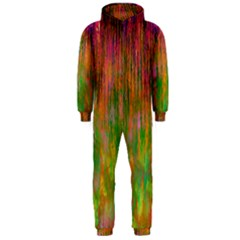 Abstract Trippy Bright Melting Hooded Jumpsuit (men)