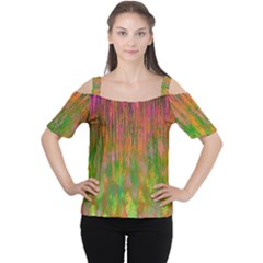 Abstract Trippy Bright Melting Women s Cutout Shoulder Tee