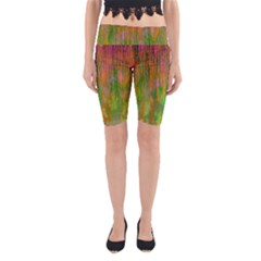 Abstract Trippy Bright Melting Yoga Cropped Leggings