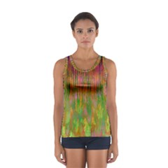 Abstract Trippy Bright Melting Women s Sport Tank Top