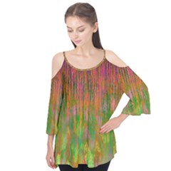 Abstract Trippy Bright Melting Flutter Tees