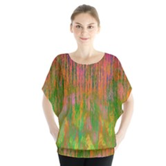 Abstract Trippy Bright Melting Blouse