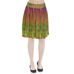 Abstract Trippy Bright Melting Pleated Skirt