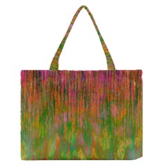 Abstract Trippy Bright Melting Medium Zipper Tote Bag