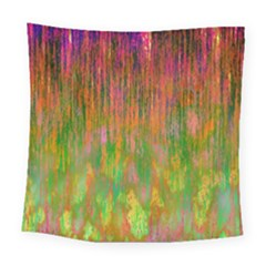 Abstract Trippy Bright Melting Square Tapestry (large)