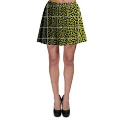 Pixel Gradient Pattern Skater Skirt
