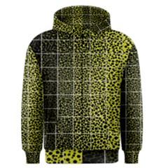 Pixel Gradient Pattern Men s Zipper Hoodie