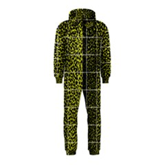 Pixel Gradient Pattern Hooded Jumpsuit (Kids)