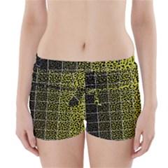 Pixel Gradient Pattern Boyleg Bikini Wrap Bottoms