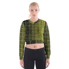 Pixel Gradient Pattern Women s Cropped Sweatshirt