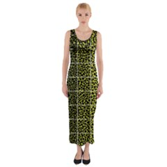 Pixel Gradient Pattern Fitted Maxi Dress