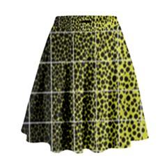 Pixel Gradient Pattern High Waist Skirt