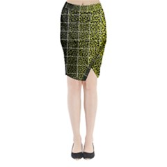 Pixel Gradient Pattern Midi Wrap Pencil Skirt