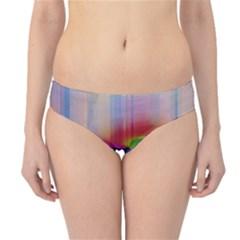 Glitch Art Abstract Hipster Bikini Bottoms