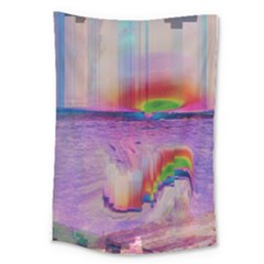 Glitch Art Abstract Large Tapestry