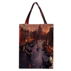River Venice Gondolas Italy Artwork Painting Classic Tote Bag